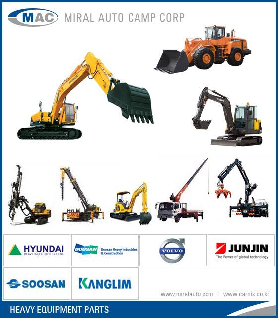 All Kinds of Heavy Equipment Parts
