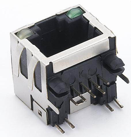 RJ45 connector with led