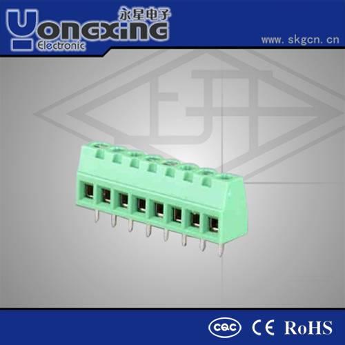 Hot sale 5.08mm 16Amp 300V AC Euro Type PCB 2 way terminal block