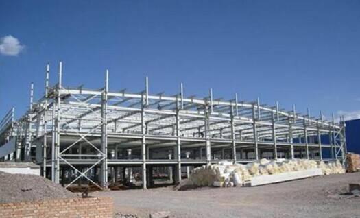 steel structure, steel frame