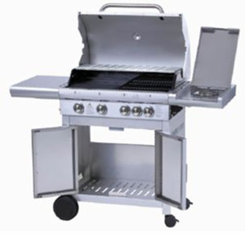 4 Main Burner Gas Grill Barbecue With 1 Side