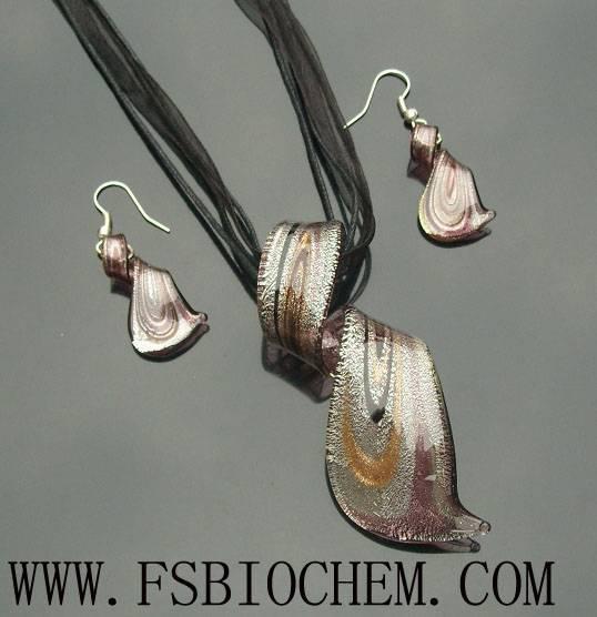 Lampwork Glass Pendant Necklace Sets ,Lampwork glass pendant Sets