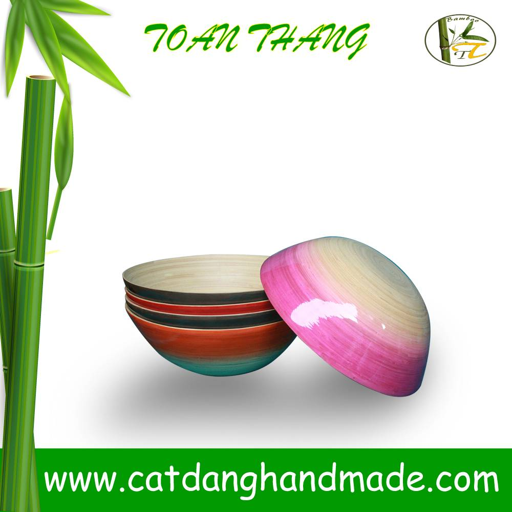 Vietnam durable bamboo bowl(skype: jendamy, mob: + 84 91 454 2499)