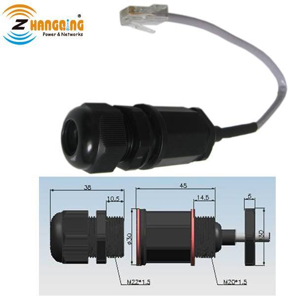 M20 IP67 RJ45 Ethernet Waterproof Connector