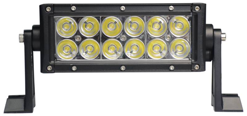 7.5inch 36w dual row 12LED led light bar in IP68 and stainless steel screws for offroad and marin
