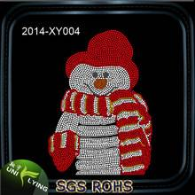 Lovely Snowman Custom Hotfix Rhinestone Transfer