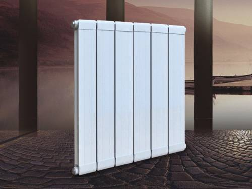 Copper and aluminum composite radiator