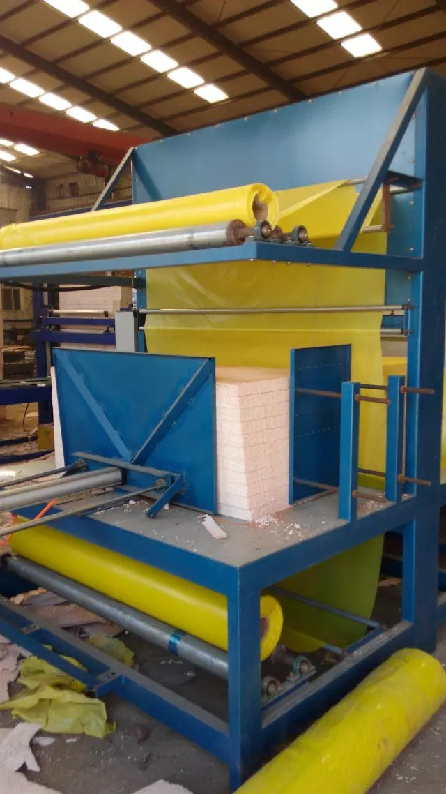 eps block /board packing machine plastic wrapping