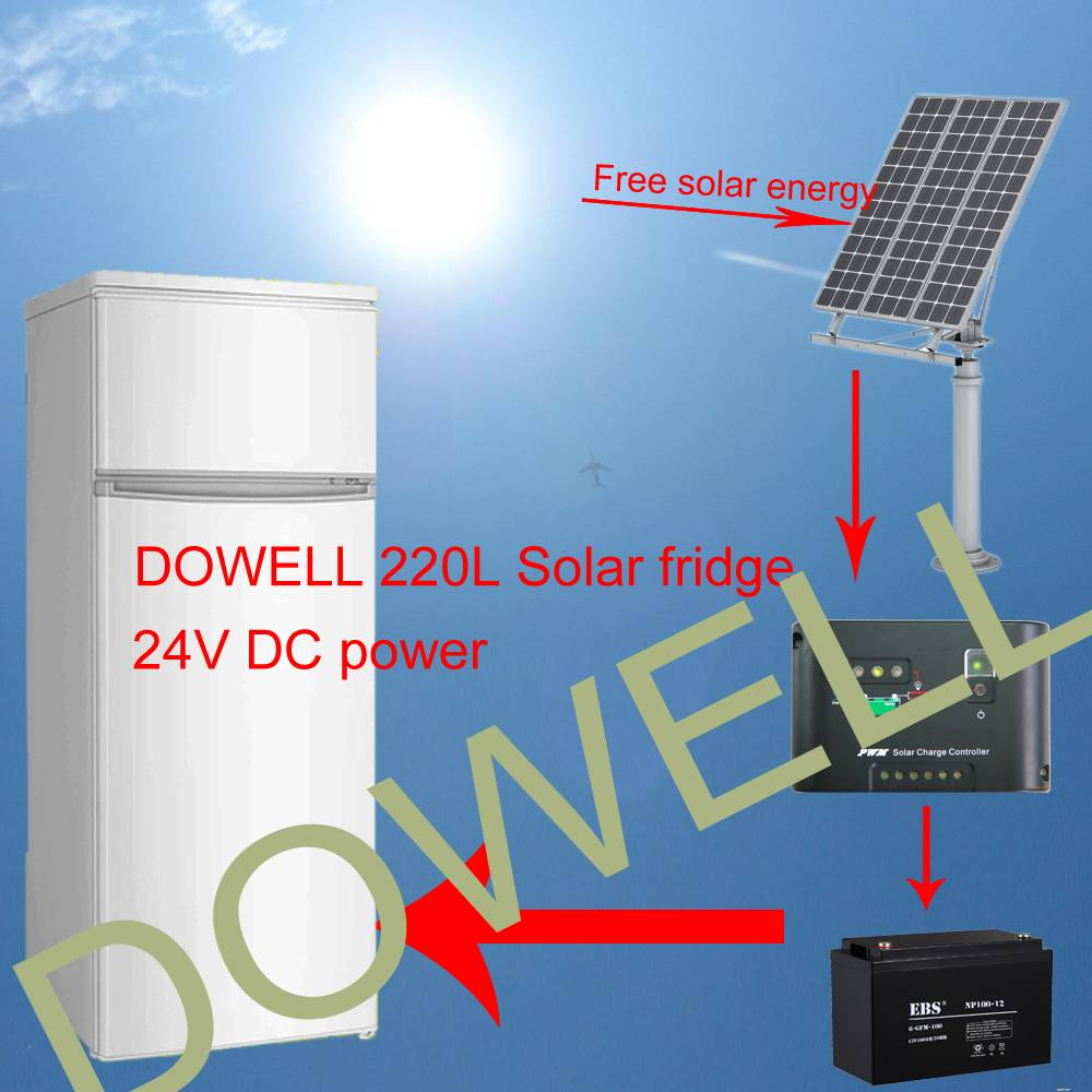 DC Solar fridge 220 Liters 24V