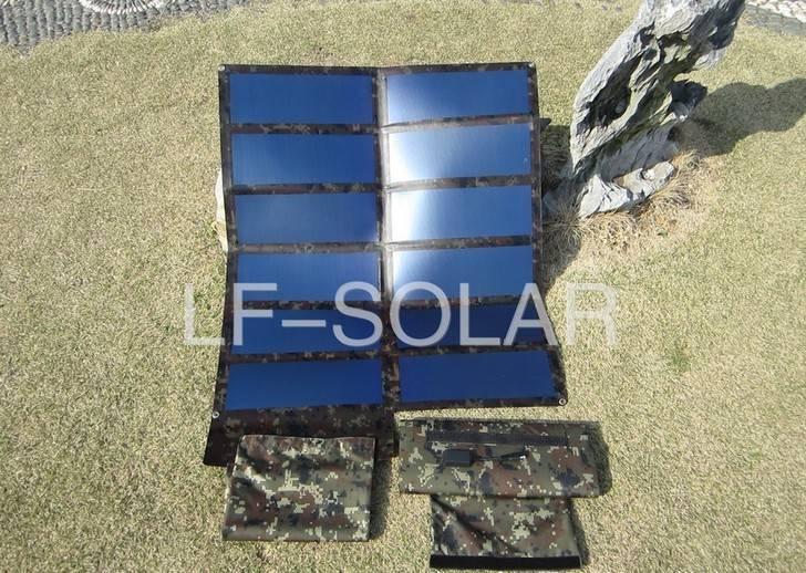 Portable solar charger bag computer