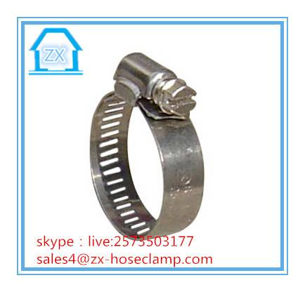 China American Types Hose Clamp Stainless Steel Hose Clip