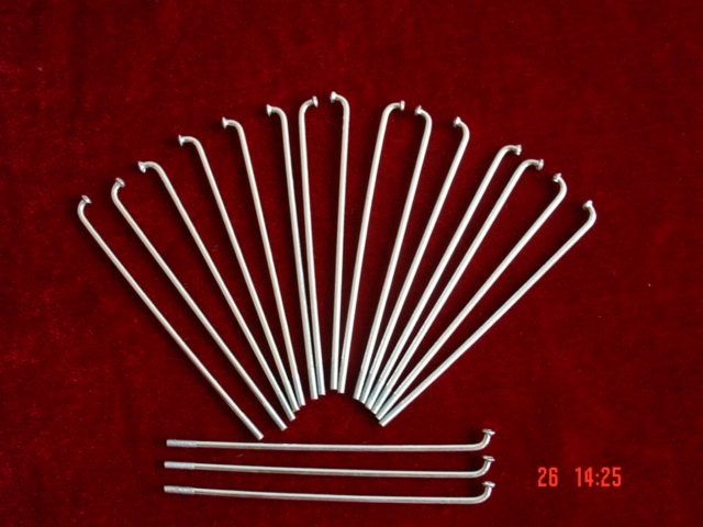 9# zinc-plated spokes with nipples