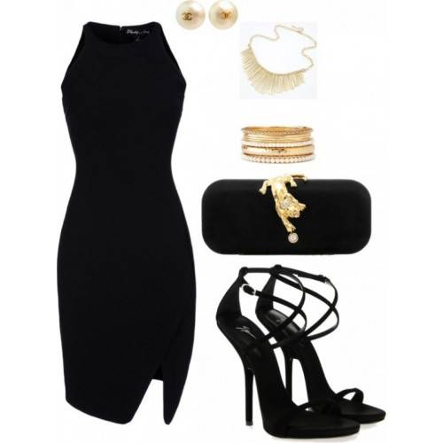 BLACK SATIN COLUMN/SHEATH ROUND NECK KNEE LENGTH BRIDESMAID DRESS FOR HE IS A PIRATE HB3004