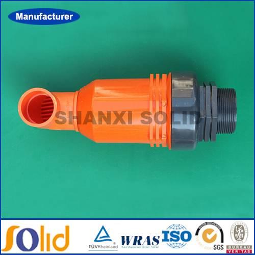 Plastic air pressure relief valve