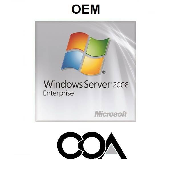 Microsoft Windows Server 2008 Enterprise 1-25 Client OEM COA Sticker