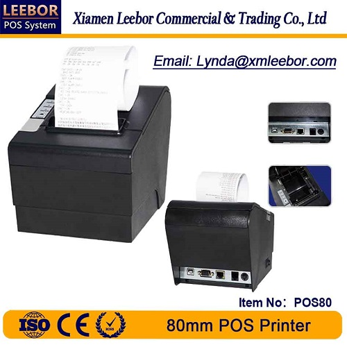 80mm High Speed POS Printer, Bluetooth Thermal Printer, Receipt/ Bill & Barcode Label Printing