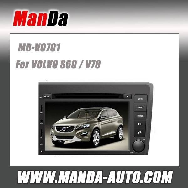 HD touch screen dvd car radio for Volvo S60 V70 car multimedia navigation system with Bluetooth