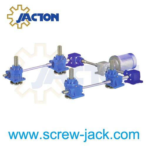 spindle type lifting gearboxes and lifting systems