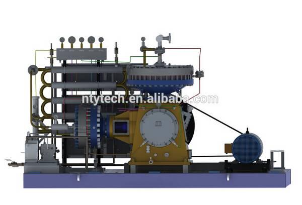 N-butene / Butene L-type Diaphragm 25MPa Pressure Gas Compressor