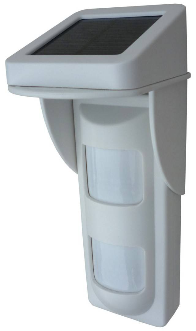 315Mhz / 433Mhz Wireless Intelligent Dual PIRs Outdoor Motion Detector With Solar Power Panel