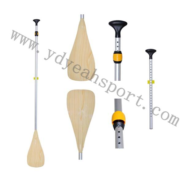 2013 YD Yeah Sport Wood Surface Treatment Aluminum Paddle Sup Board Paddle Adjustable