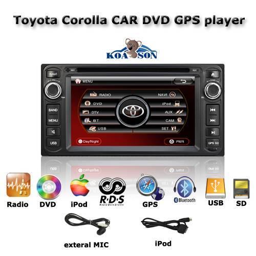 New 8 inch Toyota Corolla Car DVD GPS Navigation Player