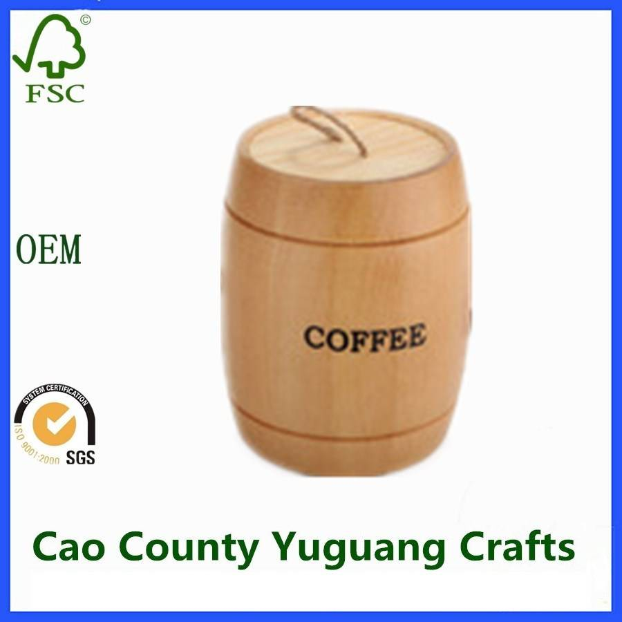 Mini Wooden Barrels for Coffee Beans