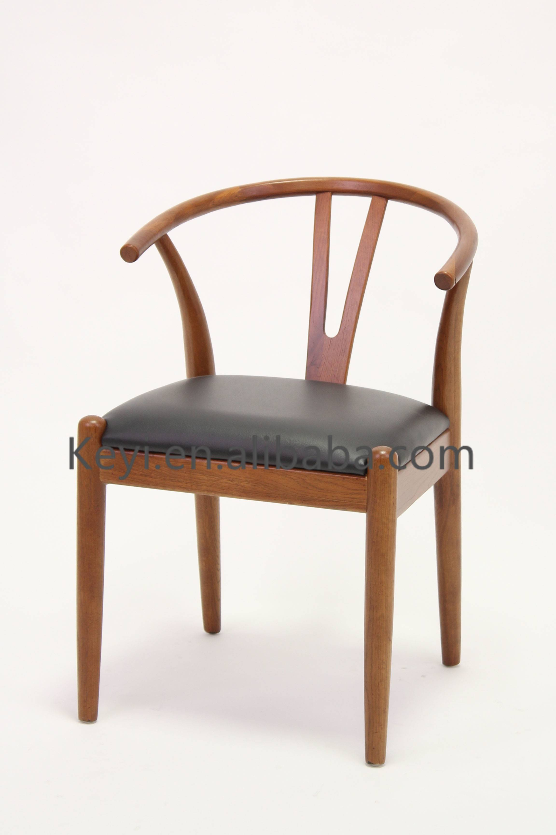 Classic Style PU seat Seat Wooden Y Chair/Wishbone Chair(CH-825-OAK)