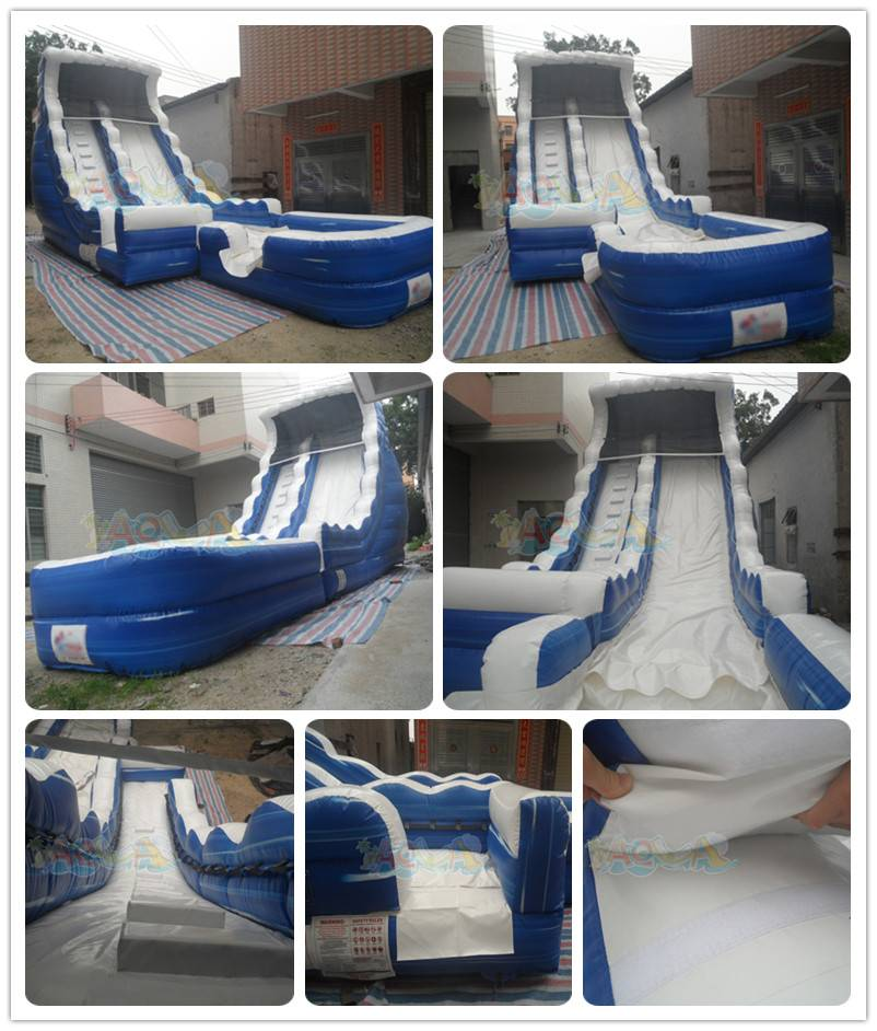 Bule Inflatable Water Slide