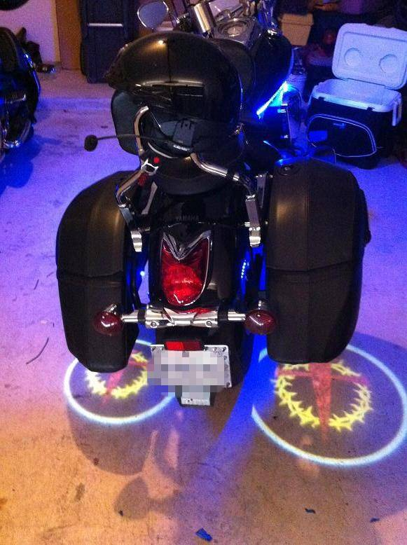 LED Ghost Rider Lights for Motorcycles,Custom Logo Available