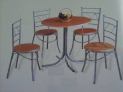 Best Selling MDF And Aluminium Table /chair Set Model1512