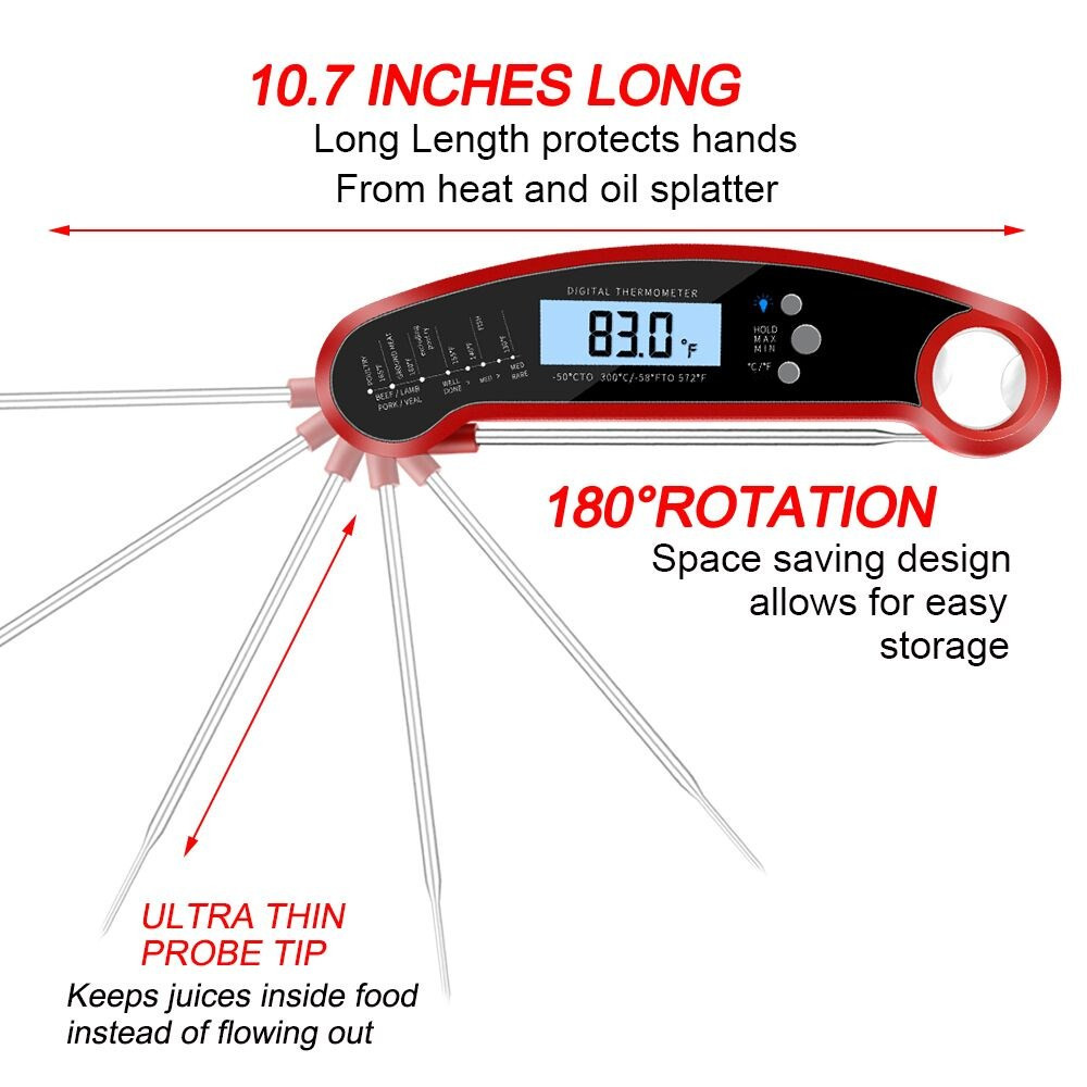 No.1 Digital Thermometer with Bright LCD Screen
