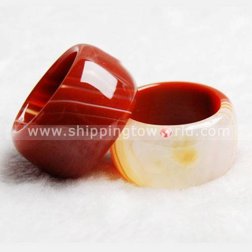 Good Luck Mascot Agate Ring,Crystal Handiwork Craft,Cystal Adornment As best Gift