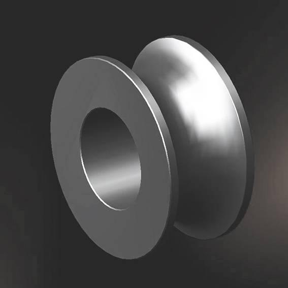 Pressureless sintered silicon carbide roller wheels