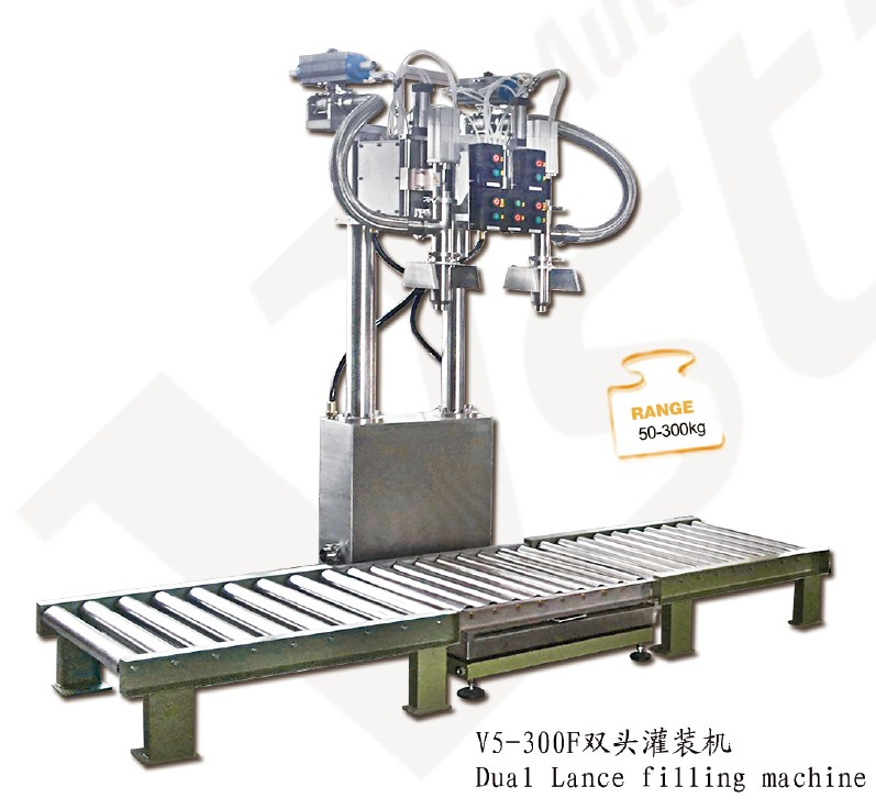 Two Nozzles Chemical Strong Corrosive Acid Liquid Filling Machine