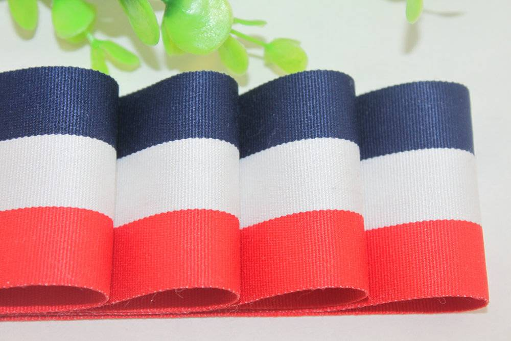 Cheap chenille and polyester yarns dyed stripes tapes
