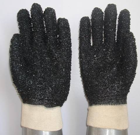 Sell PVC coated/dipped work glove,PVC dots on the palm