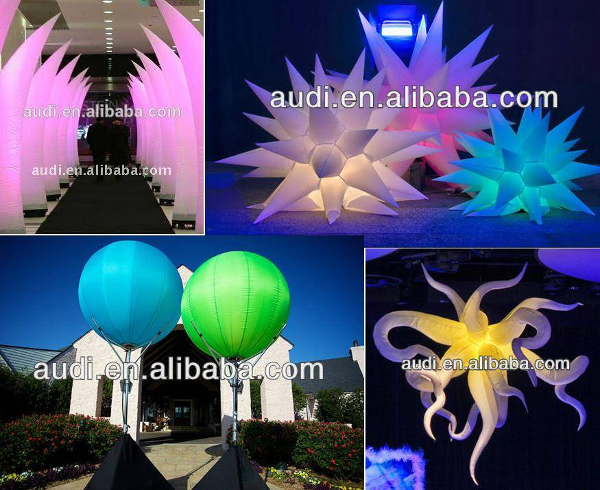 event/party decoration inflatable star/cone/balloon,inflatable lighting decor