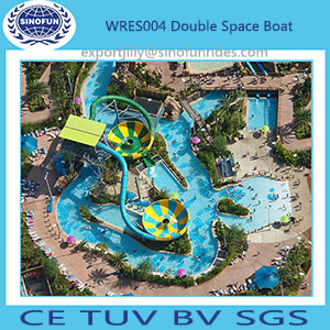 China Factory Fiberglass Bowl Water Park Slides for Sale