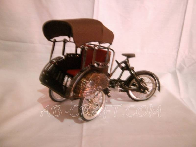 Pedicab Miniature Iron Copper Brass