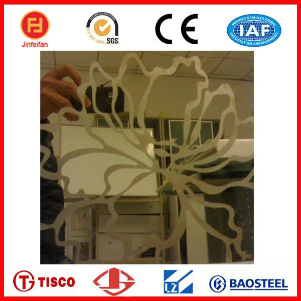 etched color sheet stainless steel