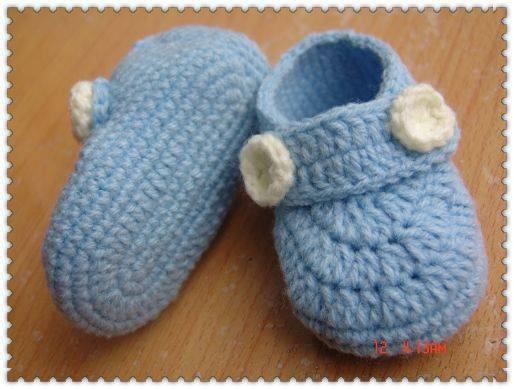 crochet baby ankle booties