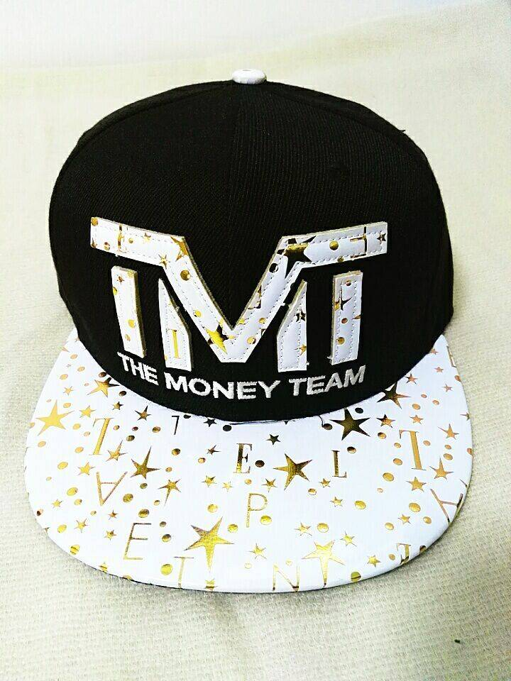 100% Cotton 3D Embroidery Snapback Baseball Caps Adjustable Size