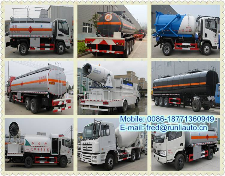 Factory directly supplied all kinds of special trucks such as water tanker truck, oil tanker truck