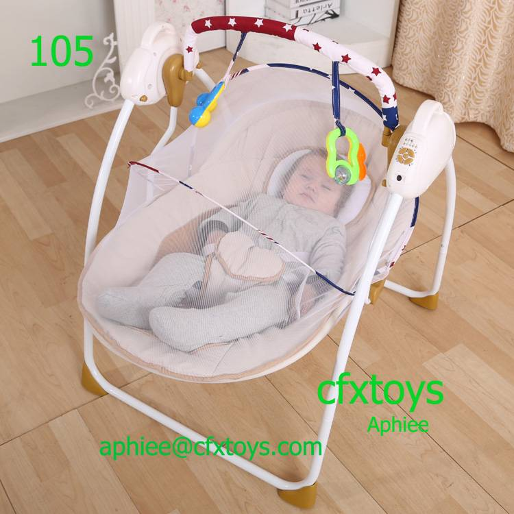 electric baby rocker swing chair musical baby bouncer with canopy 105