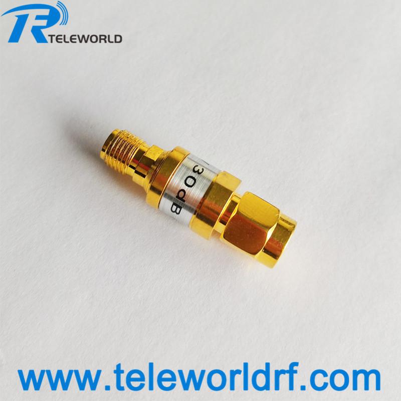 high quality 2W SMA Fixed attenuator 1-30dB 6GHz