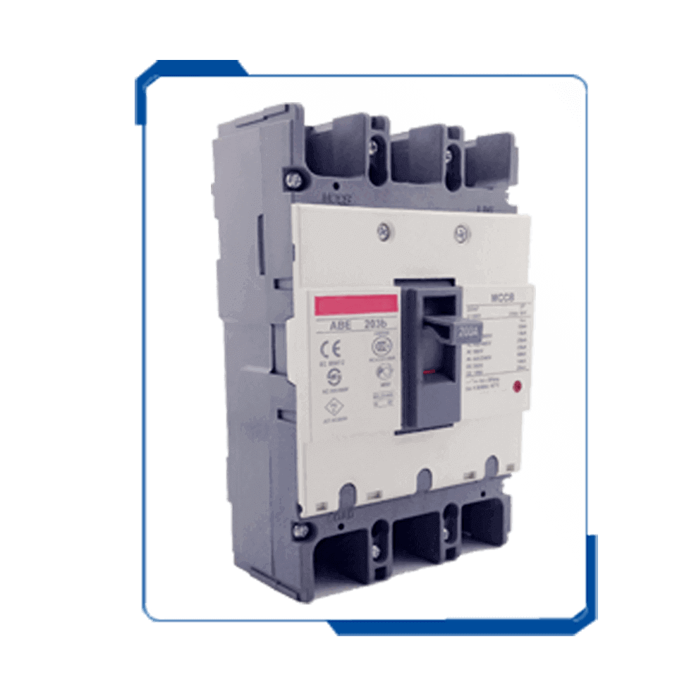 ICE 60947-2 200 amp moulded case circuit breaker ABE MCCB price