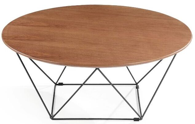 MS-3372 SHIMING FURNITURE Round wooden(MDF) top with iron frame coffee table