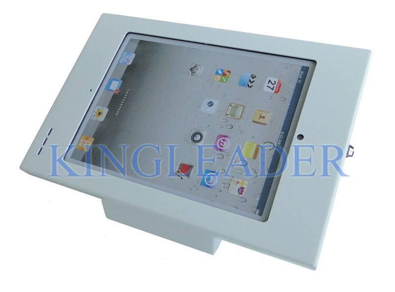 Desktop and Wallmounted Locking iPad Enclosure Kiosk With Wi-Fi , Bluetooth unimpeded
