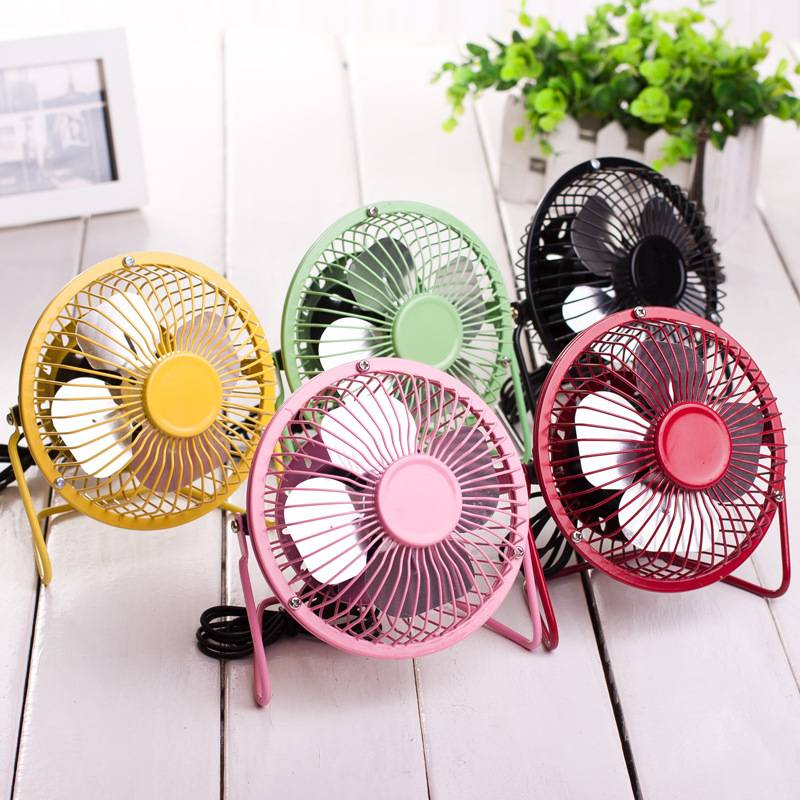 4-inch USB small fan Iron aluminum leaf fan